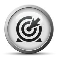 silver button with icon of Target and arrow