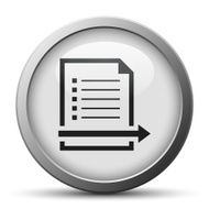 silver button with icon of Document and arrow