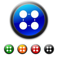 round buttons with icon of Flowchart