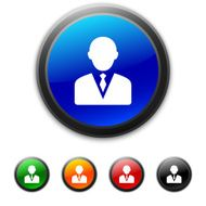 round buttons with icon of Businessman