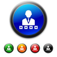 round buttons with icon of Businessman and flowchart