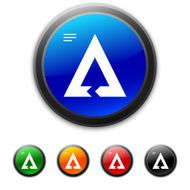round buttons with icon of triangular Chevron Chart