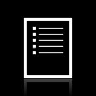 Document icon on a black background - White Series N4