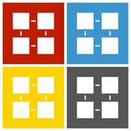 Flowchart icon on square buttons - Square Series N8
