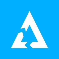 Chevron Chart icon on a blue background - Smooth Series N7