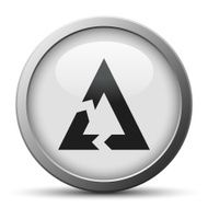 Chevron Chart icon on a silver button - Silver Series N7