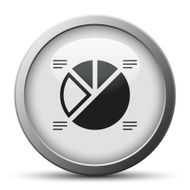 Pie Chart icon on a silver button - Silver Series N4