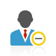 Businessman icon on a white background - Color Series N19