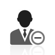 Businessman icon on a white background - Prime Series N19