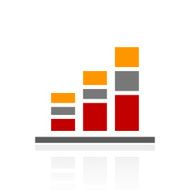Bar Graph icon on a white background - Pro Series N20