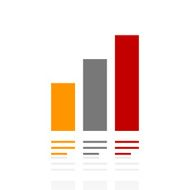 Bar Graph icon on a white background - Pro Series N21