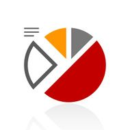 Pie Chart icon on a white background - Pro Series N7