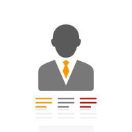 Businessman icon on a white background - Pro Series N20