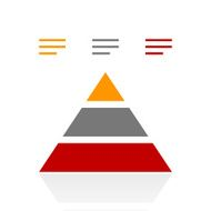 Pyramid icon on a white background - Pro Series N11