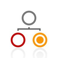 Organization Chart icon on a white background - Pro Series N5