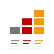 Bar Graph icon on a white background - Pro Series N22