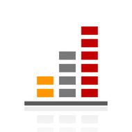 Bar Graph icon on a white background - Pro Series N23