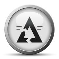 Chevron Chart icon on a silver button - Silver Series N10