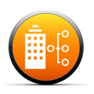 Office Building icon on a round button - Simple Series N2