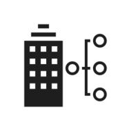 Office Building icon on a white background - Single Series N2
