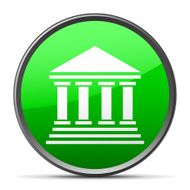 Bank icon on a round button - Slender Series N9