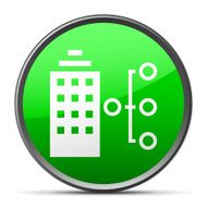 Office Building icon on a round button - Slender Series N2