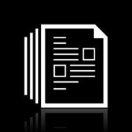 Document icon on a black background - White Series N8