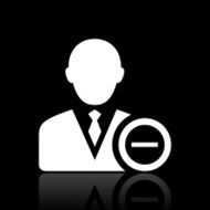 Businessman icon on a black background - White Series N19