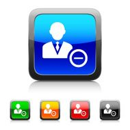 Businessman icon on color buttons