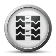 Flowchart icon on a silver button N4