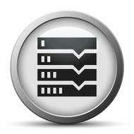 Flowchart icon on a silver button N5