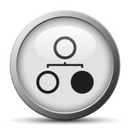 Flowchart icon on a silver button N7