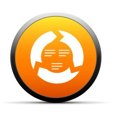 orange button with icon of Chevron Chart