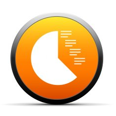 orange button with icon of Coxcomb Chart