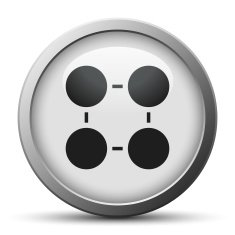 silver button with icon of Flowchart