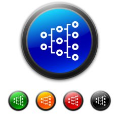 round buttons with icon of Organization Chart