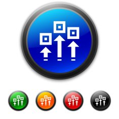 round buttons with icon of process scheme