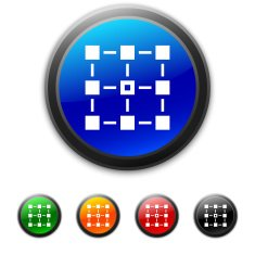 round buttons with icon of block scheme