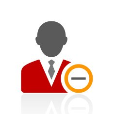 Businessman icon on a white background - Pro Series N19