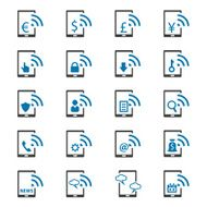 Mobile banking icons set