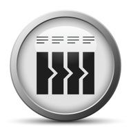 Flowchart icon on a silver button N9