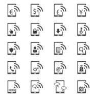 Mobile banking icons set N3