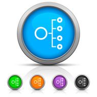 Organization Chart icon on round buttons N6