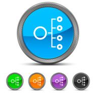 Organization Chart icon on circle buttons N6