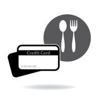Credit card to pay for food