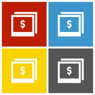 Photography Sale icon on square buttons