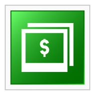 Photography Sale icon on a square button N4