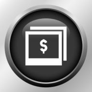 Photography Sale icon on a round button N8