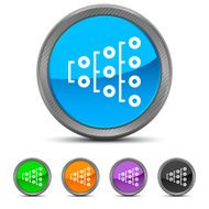 Flowchart icon on circle buttons N25