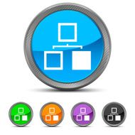 Organization Chart icon on circle buttons N8